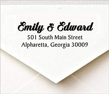 Custom Address Stamp Return Address Stamp,Custom Stamp Rustix Wood Handle Stamp Style-3065