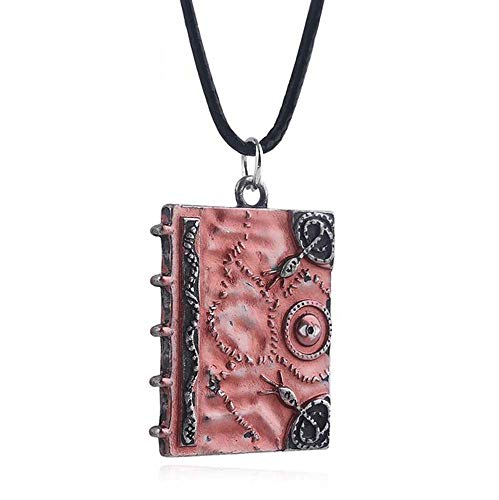 EU_LevinArt Movie Hocus Pocus 3D Spell Book Necklace Witches Sanderson Sister Magic Book Double Side Pendant Chokers Women Men JEWELRY