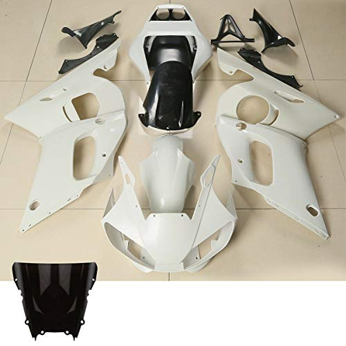TCMT Unpainted ABS Plastic Fairing Bodywork Fits For YAMAHA YZF R6 YZF-R6 1998 1999 2000 2001 2002