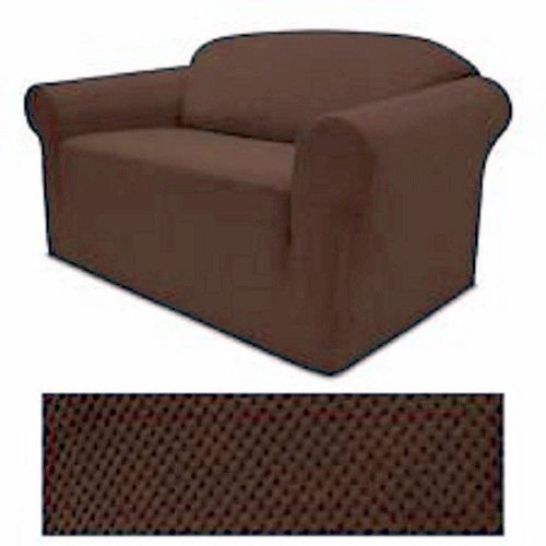 Grand Linen 4-Way Stretch Spandex Jersey Chocolate Brown Sofa Slipcover - 1 Piece Couch Cover
