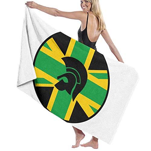 Toalla de playa de microfibra de secado rápido con la bandera de Jamaica, toalla de viaje, toalla de baño súper absorbente tamaño grande