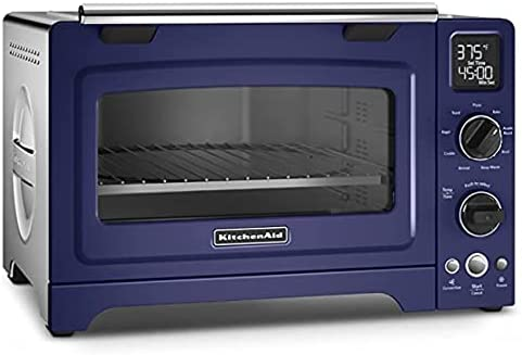 "2021 KitchenAid RKCO273BU 12"" Convection Bake Digital Countertop Oven high quality popular - Cobalt Blue (RENEWED) outlet online sale"