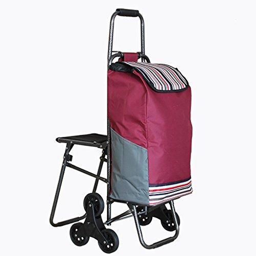 Gwgbxx Tragbare Kletterhilfe mit sechs Rädern, faltbar, Bollerwagen, kleine Trolley, Gepäckwagen, Anhänger (Farbe: A2)