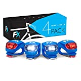 FX FFEXS Bike Lights Front and Back - Bike Lights Set - Bright Bicycle Lights Front Rear Waterproof Silicone - Cycling Lights for Mountain Roads Night Cycling - Brighter Than Helmet Lights
