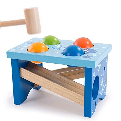 Yifuty Puzzle Knocking Table jouets, petite enfance éducation de la petite enfance construction scolaire Bloc Lumières, garçons et filles, cadeaux d'anniversaire, Hamster Jouets, Mouvement fin de form