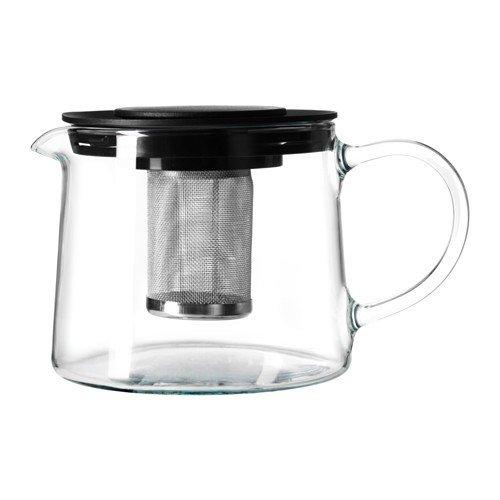 IKEA RIKLIG Teekanne aus Glas; (0,6l)