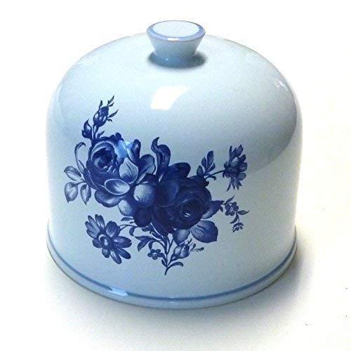 Käseglocke Keramik Haube Glocke original für Girolle aus der Schweiz -Fleurs bleues-