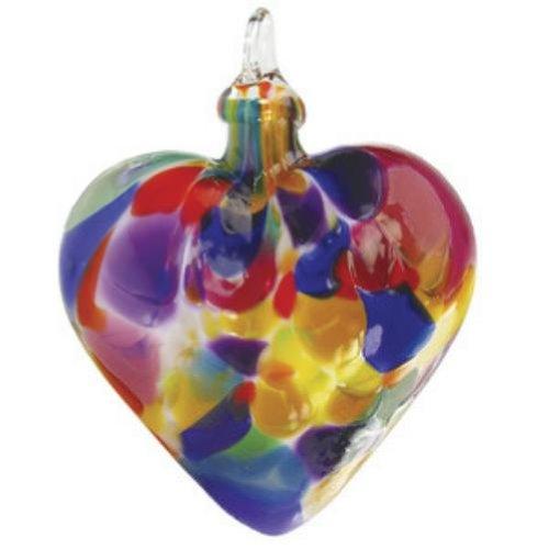 Glass Eye Studio Fiesta Heart Ornament