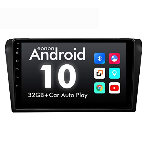 2021 Newest Double Din Car Stereo, Eonon Android10 Car Radio 9 Inch IPS Full Touchscreen Head Unit Fit Mazda 3 2004-2009 Support Carplay/Android Auto/Bluetooth 4.0/Fast Boot/DVR/OBDII-GA9451B