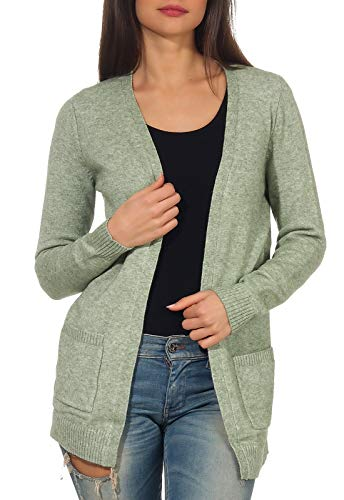Only 15174274 Chaqueta Punto, Verde (Basil Detail: W. Melange), 40 (Talla del Fabricante: Medium) para Mujer