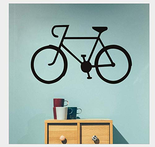 Pegatinas De Pared Hombres montando bicicleta personalidad pegatinas de pared sala de estudio sala de estar dormitorio sofá decoración de pared de fondo 58 * 34Cm