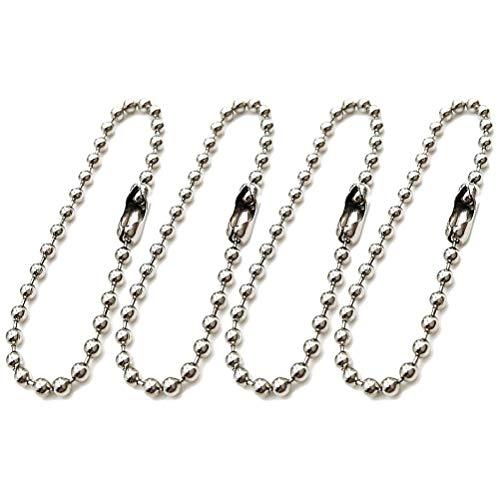 SUPVOX Portachiavi a fascetta lunga Catenella a pallina Catena portachiavi regolabile in metallo anticato per catena 100 pezzi