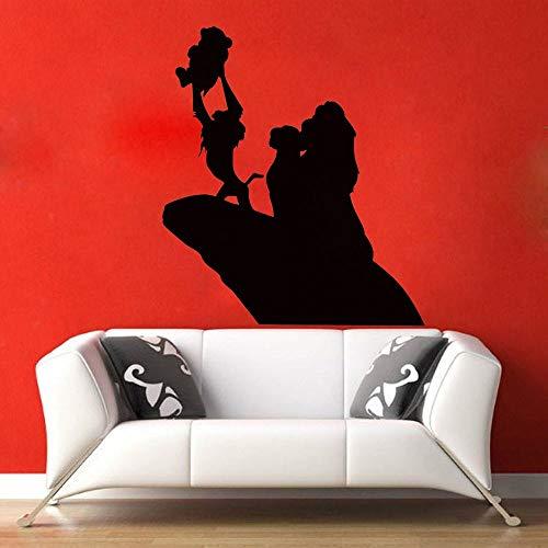 Tianpengyuanshuai Löwe Kinderzimmer Wandaufkleber Vinyl Wandtattoo Cartoon Home Decoration Aufkleber Wohnzimmer Aufkleber 42X37cm