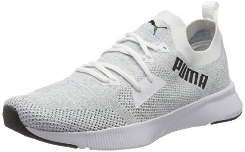 Puma Herren Flyer Runner Engineer Knit Sneaker, Weiß White-Quarry Black, 42 EU