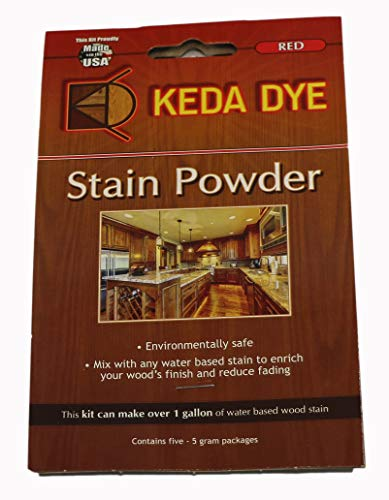 Red Dye by Keda Dye - (25) Grams of Red Wood Dye - Makes 5 Dye Stain Quarts