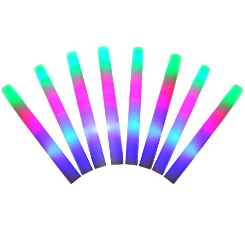 Gosear 8 pz LED Colorato Spugna Glowsticks Glow Stick per concerto festa Club Cheer