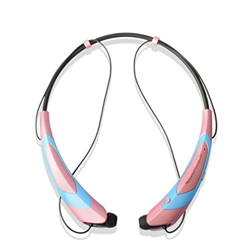 BUMMD Wireless Bluetooth Headset,Neckband Design Blutooth Headphone Stereo in-Ear Earphone Noise Cancelling Bluetooth 4.1 Earbuds with Mic (PN777)