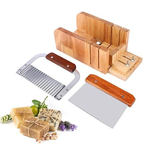 Anti-log zeepsnijder, doe-het-zelf soap tool set houtzeep laib mold cutter messen zeep reparatie leveringen