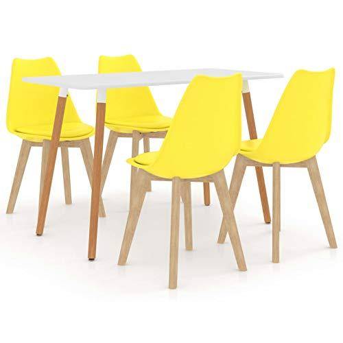 Tidyard Conjunto de Mesa sillas,Mesa Salón y Sillas,Muebles de Jardin Exterior Conjuntos...