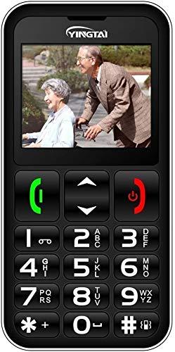 YINGTAI 2G Telefono Cellulari Anziani con Tasti Grandi per Gli Anziani Pulsante SOS per Chiamate di Emergenza