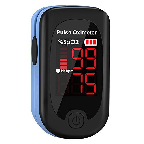Mpow Dedo Oxímetro de Pulso, Pulsioxímetro de Dedo Pulsómetro Digital, Lector de Pulso Digital de Lectura Instantánea, Sensor de Oxígeno y Monitor de Frecuencia de Pulso 🔥