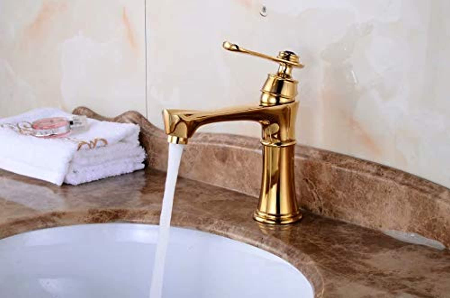 JONTON Taps Taps Taps Basin Faucet_Factory Direct Hot And Cold Water European gold All Copper Basin Faucet