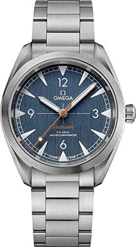 Omega Seamaster automatico orologio da uomo quadrante blu 220.10.40.20.03.001