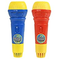 HTI Toys & Games Groovy Tunes PACK OF 2 Echo Microphones Red & Blue | Great Singing Toy Prop Mic For...