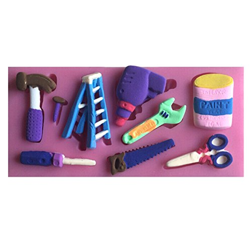 Karen Baking Shear, trapano elettrico, Martello Forma Strumenti Serie fondente 3D Stampi, Candela stampi, attrezzi del mestiere zucchero, cioccolato Stampi, cuocere Ware