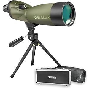 Barska AD10350 Blackhawk 20-60x60 Waterproof Spotting Scope with Tripod & Case for Birding, Target Shooting, etc, Green