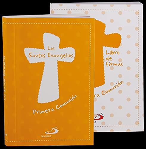 Minipack Primera Comunión: Los Santos Evangelios + Libro de firmas (Estuches Primera Comunión)