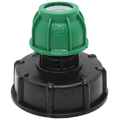 Timagebreze Adaptador de Tanque IBC Adaptador IBC Conectores de Grifo de Agua Conector de Manguera de Tanque de Agua de JardíN Accesorio Perfecto-20 Mm