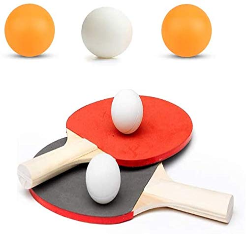 Bahob Table Tennis Set ping pong indoor outdoor portable table game bat ball set 2 Table Tennis Bats and 3 Ping Pong Balls Set Assorted Color