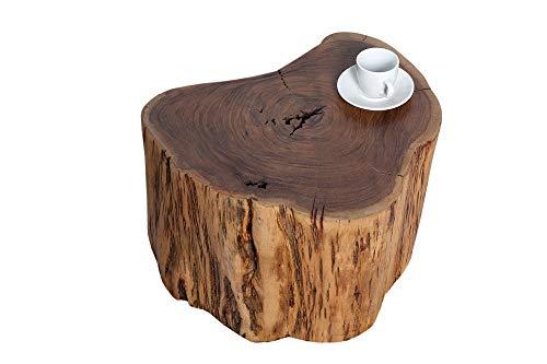 DuNord Design Beistelltisch Hocker Acacia 30cm Akazie Massiv Massivholz Baumstamm Möbel Ablage