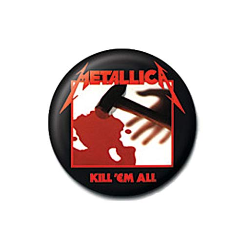 Original Metallica Kill 'Em All Album Cover Button Badge Pin Badge