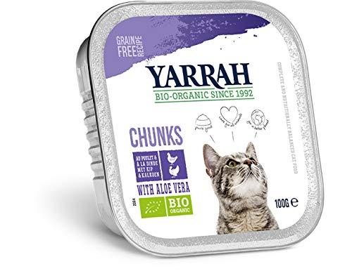 Yarrah - Pâtée pour Chat - Barquette au Poulet & Dinde Bio
