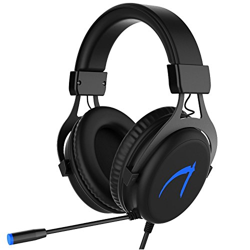Casque Gaming pour PC 7.1 Surround Sound MUTOUREN M010 Gaming Headset Micro Casque USB Headphone,PC,Laptop,Notebook - Noir (CD 7.1 Driver Inclus)