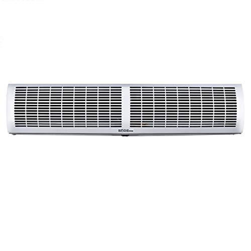 Cortina de aire Lxn Blanco Super Thin Alloy Case Commercial/Home Indoor 2 Velocidades Simple, frío con Control Remoto e Interruptor de botón, Potente, silencioso y liviano