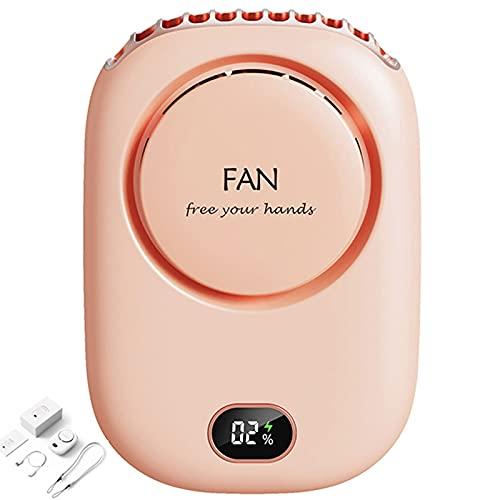 Intoowind Ventilador de Mano, Ventilador Personal, Ventilador de Mini Cuello, Ventilador Recargable USB portátil, Disponible para Hacer Ejercicio, montañas de Escalada, Compras, e