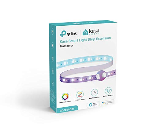 Kasa Smart LED Light Strip Extension KL430E, 16 Color Zones RGBIC, 3.3ft Wi-Fi LED Lights Work with Alexa, Google Home &IFTTT, No Hub Required