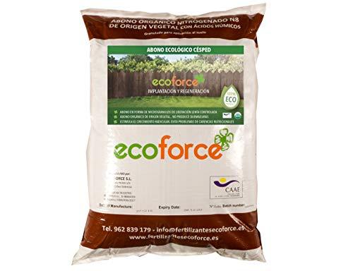 CULTIVERS Abono - Fertilizante Ecológico de 25 Kg Especial Césped. De Origen Vegetal 100% Orgánico y Vegano Granulado de Liberación Lenta y Controlada con NPK 8-1-5+74% M.O. y Ác. Húmicos