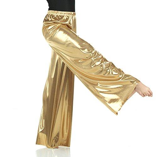 Danzcue Pull-on Unisex Dance Pant, Gold, 2XL-3XL