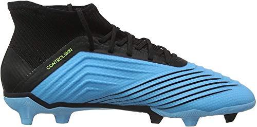 adidas Predator 19.1 FG, Zapatillas de Fútbol para Niños, Turquesa (Bright Cyan/Core Black/Solar Yellow 0), 37 1/3 EU