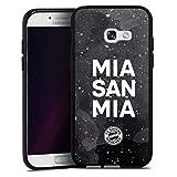 DeinDesign Silikon Hülle kompatibel mit Samsung Galaxy A5 (2017) Hülle schwarz Handyhülle mia san mia FCB FC Bayern München