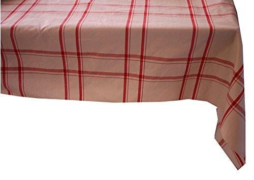 Linder à Carreaux, Polyester, Rouge, 145x240 cm