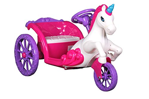Best Ride On Cars Unicorn Carriage, 6V Battery Powered Ride On Car, Pink and Purple