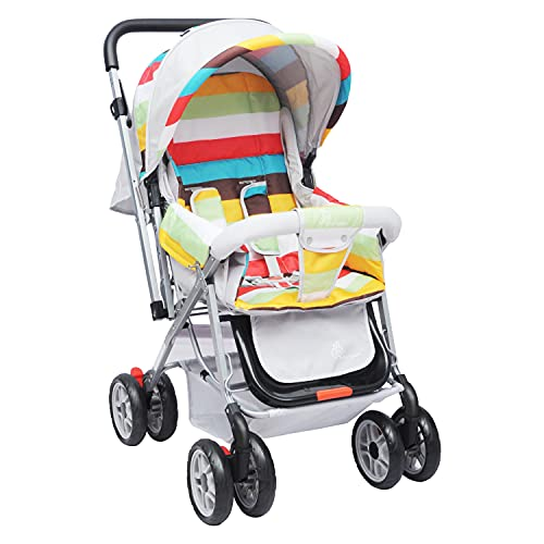 R for Rabbit Lollipop Lite Colorful Stroller & Pram with Easy Fold for Newborn Baby, Kids of 0 to 3 Years (Multi Color)