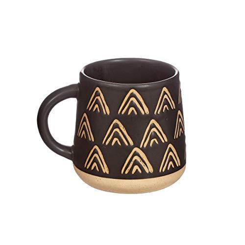 Sass & Belle Wax Resist Triangles Black Mug