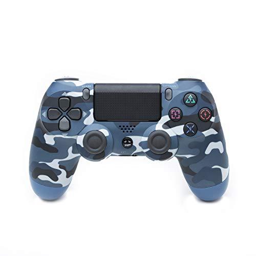 Controller Für PS4, USB Lade Bluetooth Gamepad, Kabelloser Joystick Mit Audio Buchse Dual Vibration Und Touchpad,Camouflage Blue