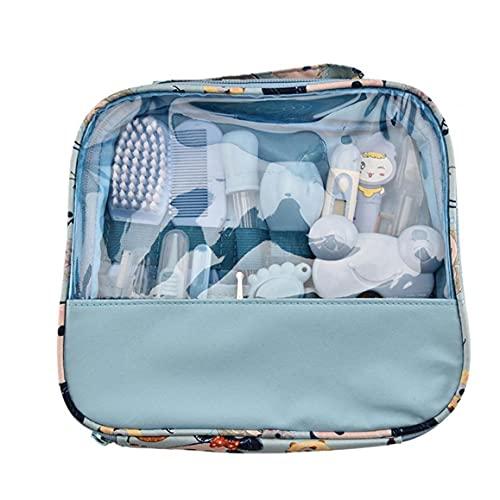 14pcs / set Baby Healthcare e Grooming Kit Infant Baby HeartCare Kit Set Set di chiodo Set con cinghia tagliata, spazzola, file, forbici, pettine, spazzolino denti spazzolino denti per neonati